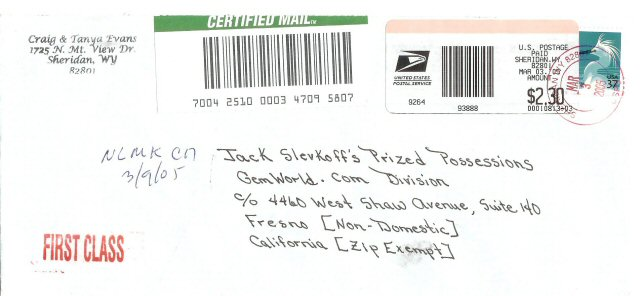Registered Post Envelope