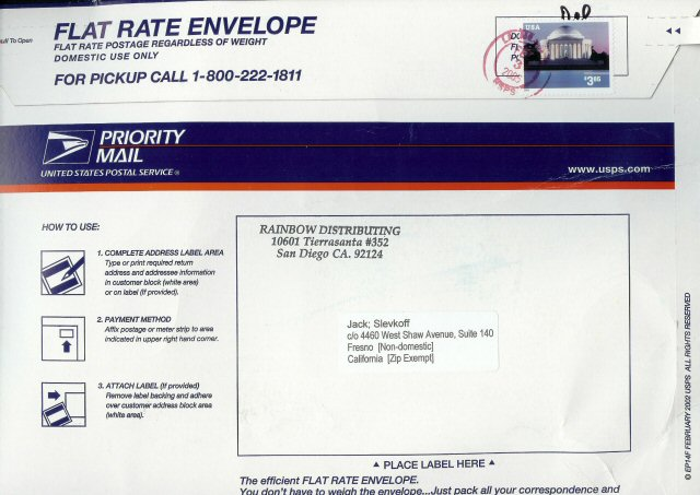 """6x4"""" Priority Mail International label set page 1 ..."""