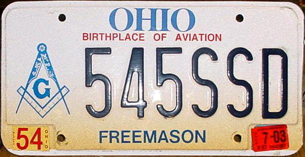 license plate display laws ohio